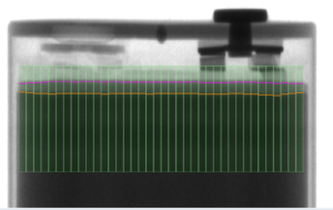 X-ray from battery checking system